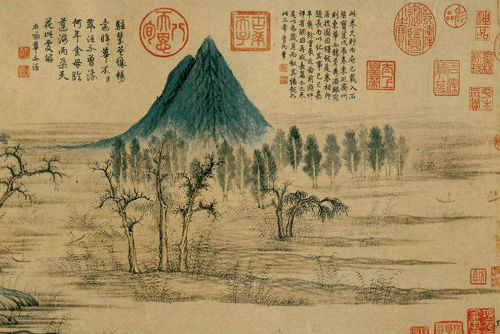 赵孟頫《鹊华秋色图》(局部)